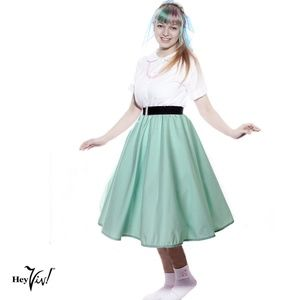 Full Circle Retro Skirt - Mint - L/XL - Hey Viv